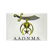A,A.O.N.M.S. Rectangle Magnet