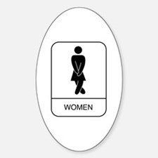 """""""Women"""" Oval Decal"""