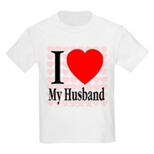 I Love My Husband Kids T-Shirt