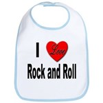 I Love Rock and Roll Bib