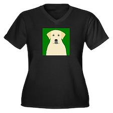 Yellow Lab Women's Plus Size V-Neck Dark T-Shirt