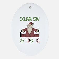 Declan Says Ho Ho Ho Oval Ornament