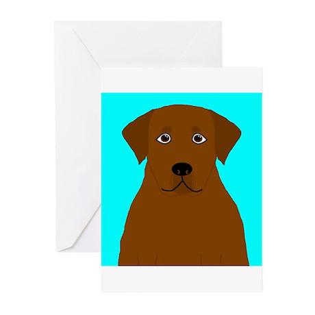 Chocolate Lab Greeting Cards (Pk of 20)