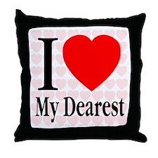 I Love My Dearest Throw Pillow