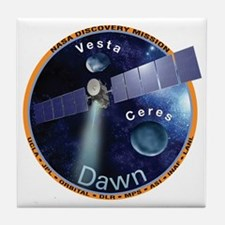 Dawn Mission Patch Tile Coaster