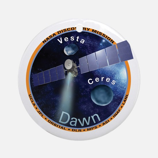Dawn Mission Patch Ornament (Round)