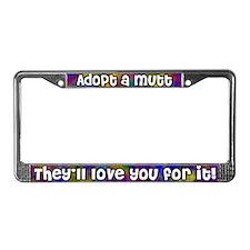 Multi Adopt a Mutt License Plate Frame
