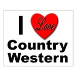 I Love Country Western Small Poster