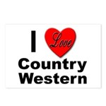 I Love Country Western Postcards (Package of 8)
