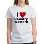 I Love Country Western (Front) Women's T-Shirt