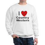I Love Country Western Sweatshirt