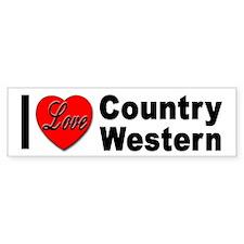 I Love Country Western Bumper Bumper Sticker