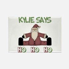 Kylie Says Ho Ho Ho Rectangle Magnet