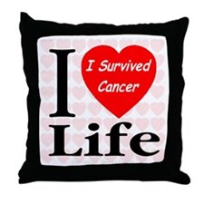 I Survived Cancer Throw Pillow