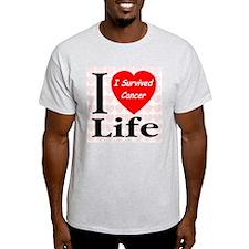 I Survived Cancer Ash Grey T-Shirt