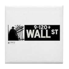Wall Street in NY Tile Coaster
