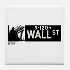 Wall Street in NY Tile Coaster