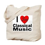 I Love Classical Music Tote Bag