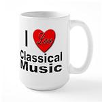 I Love Classical Music Large Mug