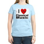 I Love Classical Music (Front) Women's Pink T-Shir