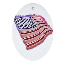 My Flag Oval Ornament