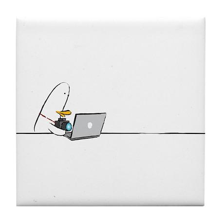 WTD: At Laptop Tile Coaster