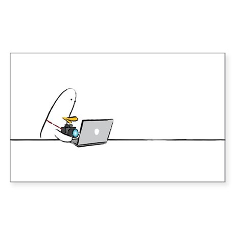 WTD: At Laptop Rectangle Sticker