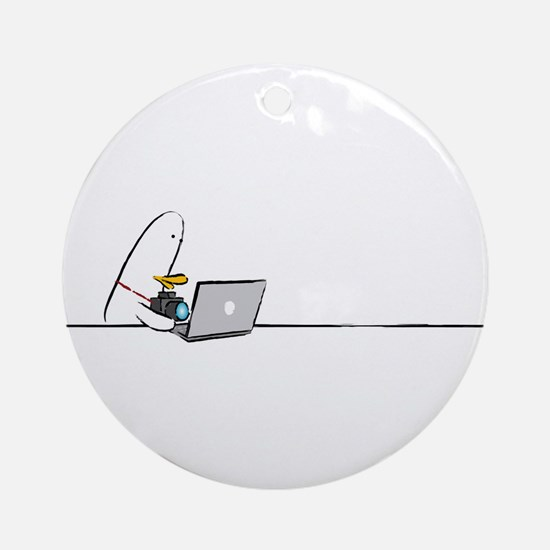WTD: At Laptop Ornament (Round)