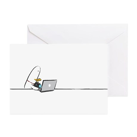 WTD: At Laptop Greeting Cards (Pk of 20)