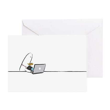 WTD: At Laptop Greeting Card