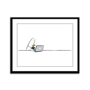 WTD: At Laptop Framed Panel Print