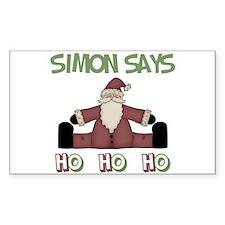 Simon Says Ho Ho Ho Rectangle Decal