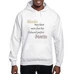 Edward prefers Brunettes Hooded Sweatshirt