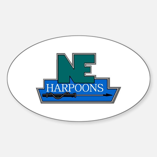 New England Harpoons Oval Decal