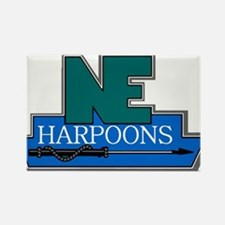 New England Harpoons Rectangle Magnet