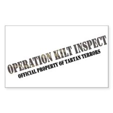 Operation Kilt Inspect Rectangle Decal