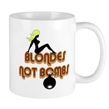Blondes Not Bombs Mug