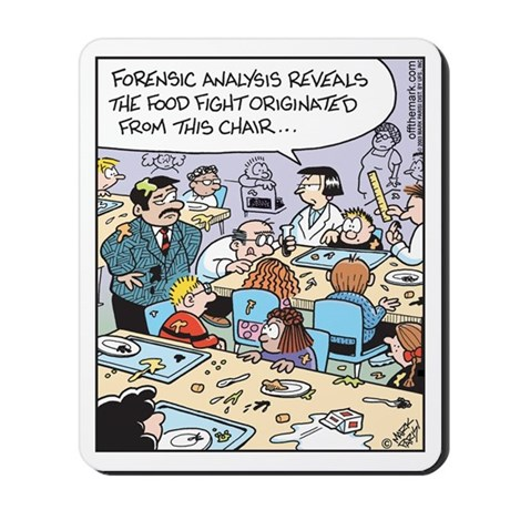 Forensic Food Fight Mousepad