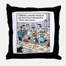 Forensic Food Fight Throw Pillow