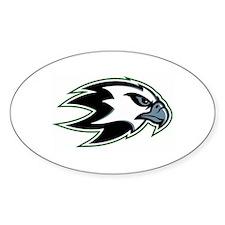 Seattle Warhawks Oval Decal