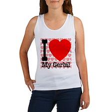 I Love My Gerbil Women's Tank Top