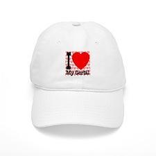 I Love My Gerbil Baseball Cap