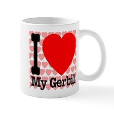 I Love My Gerbil Small Mugs