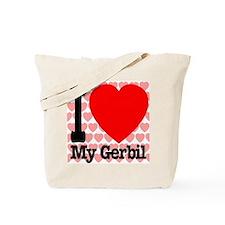 I Love My Gerbil Tote Bag