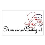 American Cowgirl Rectangle Sticker