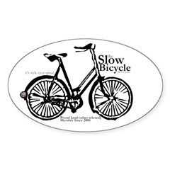 Slow Bicycle Movement -Ladies' Sticker Oval
