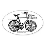 Slow Bicycle Movement -Gentleman's Sticker Oval