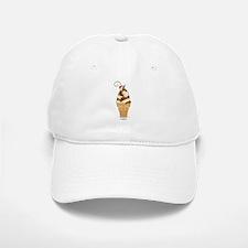 Chocolate & Vanilla Ice Cream Baseball Baseball Cap