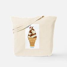 Chocolate & Vanilla Ice Cream Tote Bag
