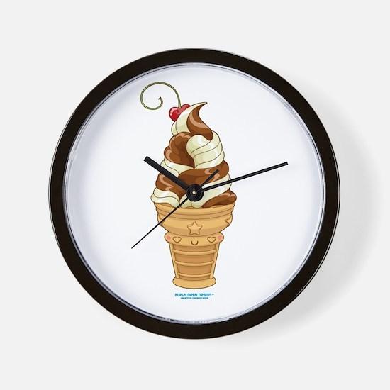Chocolate & Vanilla Ice Cream Wall Clock